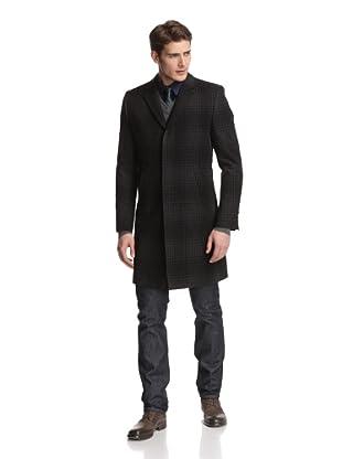 Dolce & Gabbana Men's Plaid Coat (Black)