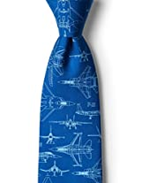 Cool Your Jets Navy Blue Silk Tie