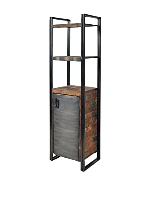 Moti Addison Reclaimed Wood & Metal Slender Shelf