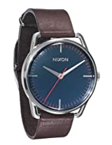 Nixon Mellor Watch - Men's Navy/Brown, One Size
