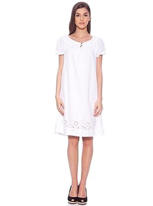 Sigris Vestido Manga Abullonada (Blanco)