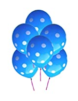GrandShop 50296 Balloons Polka Dot Extra Large 12 Inch Blue (Pack of 25)