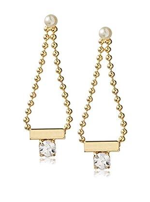 Yochi Geo Crystal Drop Earrings