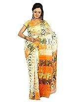 B3Fashion Handloom Traditional elegant Offwhite Dhakai Jamdani saree