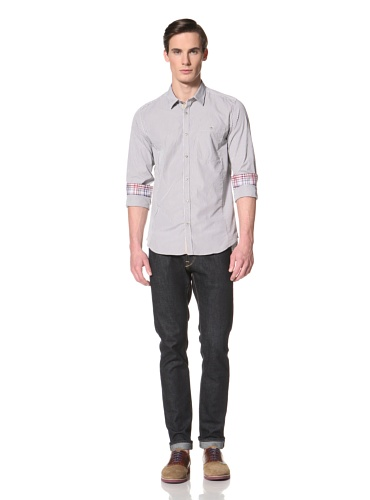 Ted Baker Men's Kival Button-Up Shirt (Grey)