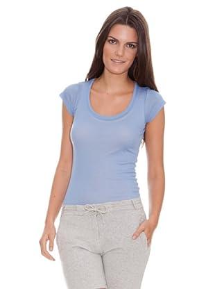 American Vintage Camiseta Massachussets (Azul Cielo)
