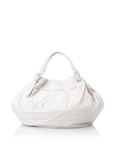 JIL SANDER Women's Gathered Shoulder Bag (Off white)