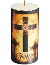 DecoGlow Faith Pillar, 3 by 6-Inches