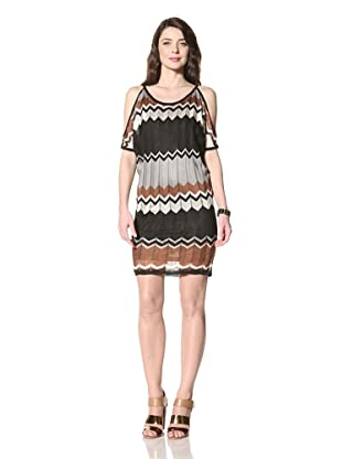 Hale Bob Women's Cold Shoulder Dress (Black)