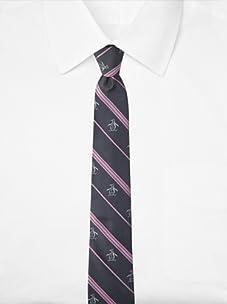 Original Penguin Men's Ocean Stripe Tie (Pink)