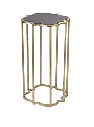 Artistic Lighting Mission Cocktail Table, Soft Gold/Gloss Black