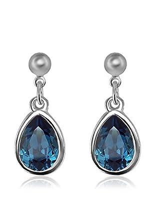 Absolute Crystals Ohrring Metal Mini Pear blue denim