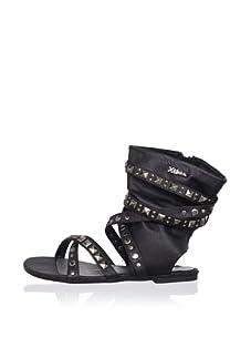 XTI Kid's Sandal with Wraparound Ankle Cuff (Black)