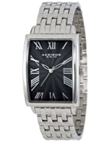 Akribos XXIV Men's AK505BK Stainless Steel Rectangle Quartz Bracelet Watch