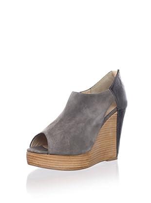 Rebecca Minkoff Women's Trott Cutout Ankle Bootie (Grey Suede)