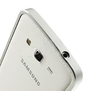 Ultra Thin Aluminum Metal Bumper Frame Case Cover for Samsung Galaxy Grand 2 - Silver