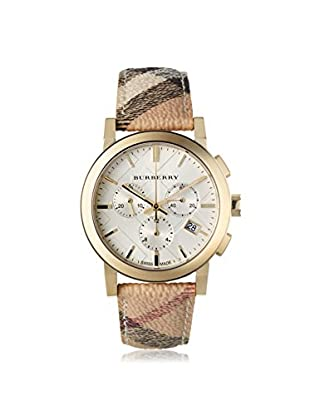 Burberry Women's BU9752 The City Haymarket Check Fabric/White Stainless Steel Watch