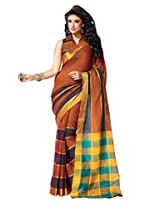 Roop Kashish Cotton Saree (Victoria _Brown)