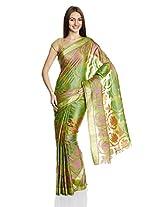 Ekya Handwoven Kosa Silk Saree with Blouse Piece