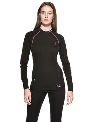 Salewa Warm Merino Camiseta Técnica (Negro)