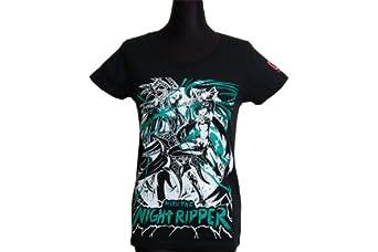 831 5thAnniversarySeries【MIKU THE NIGHT RIPPER】ワイドネックカットソーTシャツ 初音ミクバージョンMTNR06