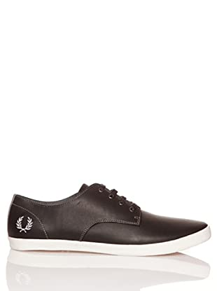 Fred Perry Zapatos Foxx Leather (Negro / Blanco)