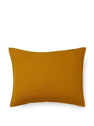 Coyuchi Basket Weave Pillow Sham (Mustard)