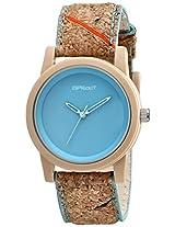Sprout Unisex ST/5516BLCK Light Blue Dial Cork Strap Eco-Friendly Watch