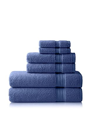 Pure Fiber Zero Twist 6-Piece Towel Set, Blue