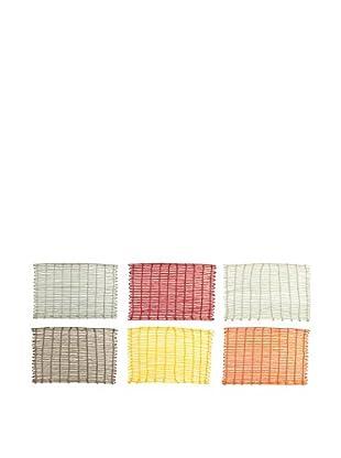 VILLA D'ESTE HOME Untersetzer 6er Set Bazar mehrfarbig