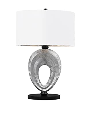 Artistic Lighting Dulce Composite Table Lamp, Silver/Black