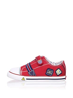 Pablosky Kid's Embellished Sneaker (Twill Red)