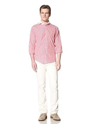 GANT by Michael Bastian Men's The M.B. Block Stripe Shirt (Watermelon)