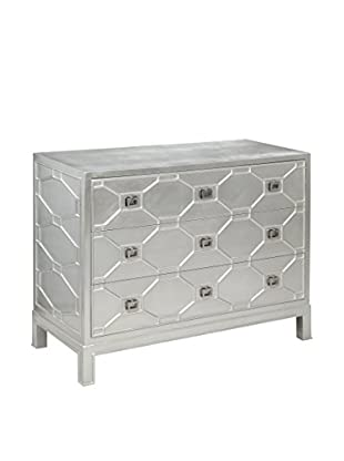 Bassett Mirror Company Sterling Hall Chest, Silver Leaf