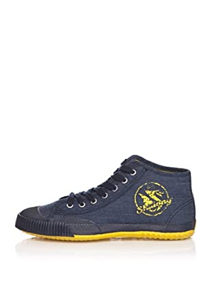 Shulong Zapatillas Shudenim High (Denim / Amarillo)