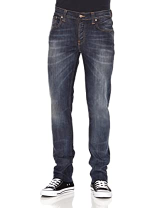 Nudie Jeans Pantalón Grim Tim (Azul medio)