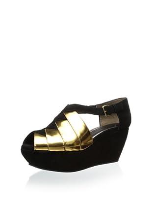 MARNI Women's I12 Platform Wedge (Gold Sand/Coal)