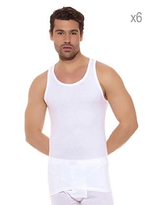 Ocean Pack x 6 Camisetas Sport (Blanco)