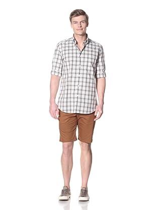 Façonnable Men's Button Up Sportshirt (Green)