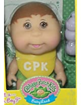 Cabbage Patch Kids Mini Doll Brown Hair & Eyes-Remove Diaper Cover to Reveal blue or Pink Blanket