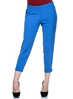 Annarita N Pantalón de Vestir Maschile (Azul Eléctrico)