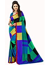 Anuraag's Malgudi Silk, Silk Cotton Saree with Unique Self Prints ( Multi-Color Colour )