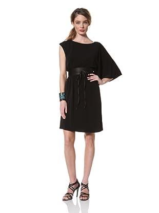 Chetta B Women's One-Shoulder Jersey Dress (Black)