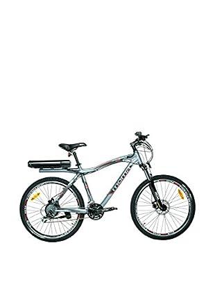 MOMA BIKES Bicicletta E-Mtb 26 Alu 7V 36V350W Lithium Grigio