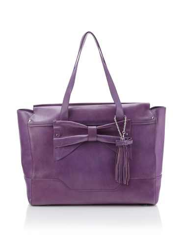 Nanette Lepore Women's Large Bow Tote (Violet)