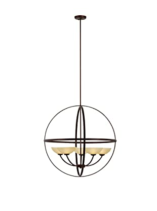 Bel Air Lighting Hercules Spherical Antique Bronze 5-Light Chandelier