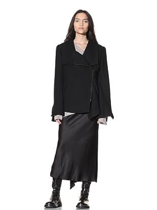 Ann Demeulemeester Women's Asymmetrical Front-Zip Jacket (Black)