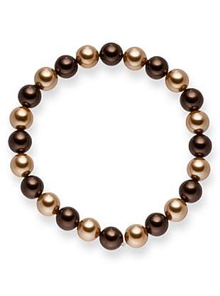 Perldor - 60650235 Pulsera de mujer con perla natural Chocolate 20 cm