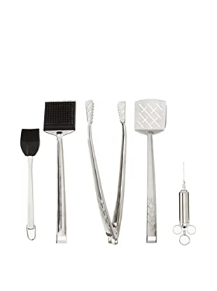 Charcoal Companion BBQ Essentials Set, Silver/Black