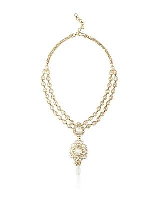 Rosena Sammi Double Row Drop Crystal Necklace